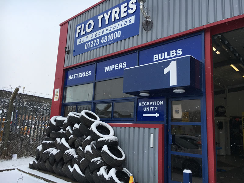 Tyre Fitting at Flomar Garage Lewes
